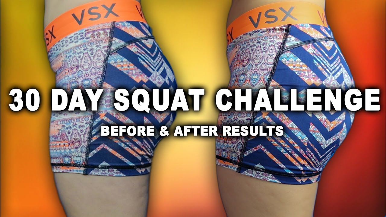 30 DAY SQUAT CHALLENGE: BEFORE & AFTER RESULTS - The Bikini
